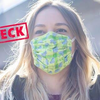 Junge Frau trägt Mundschutz (Foto: Adobe Stock/luna)