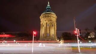 Mannheimer Nacht während der Ausgangssperre (Foto: dpa Bildfunk, Picture Alliance)