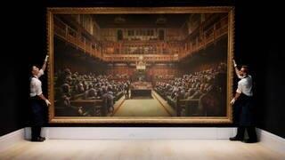 """""""Devolved Parliament"""" von Banksy (Foto: Reuters)"""