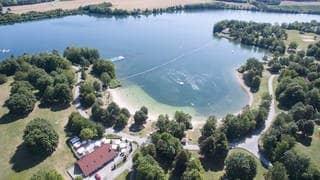 Leer: So dürfte es an den kommenden Wochenende am Breitenauer See bei Obersulm aussehen. (Foto: dpa Bildfunk, picture alliance/Sebastian Gollnow/dpa)
