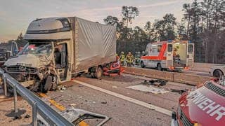 Unfall auf der A5 (Foto: picture-alliance / Reportdienste, picture alliance)