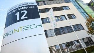 Der Sitz von Biontech in Mainz (Foto: dpa Bildfunk, picture alliance/Arne Dedert/dpa)
