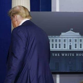 Donald Trump: US-PRäsident will das Weiße Haus verlassen (Foto: dpa Bildfunk, Picture Alliance)
