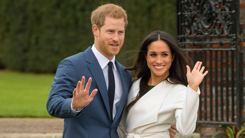 Prinz Harry und Meghan Markle nach Bekanntgabe ihrer Verlobung