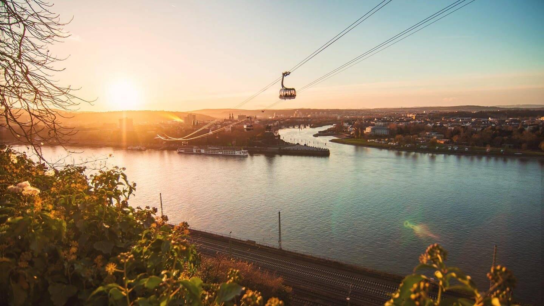 Blick von der Festung Ehrenbreitstein in Koblenz (Foto: Henry Tornow)